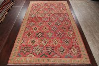 Palace Geometric Kilim Turkish Rug Wool 10x16