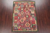 Modern Flat-Weave Turkish Kilim Area Rug 5x7