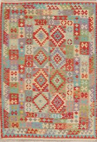 Flat-Weave Kilim Turkish Rug Wool 5x7