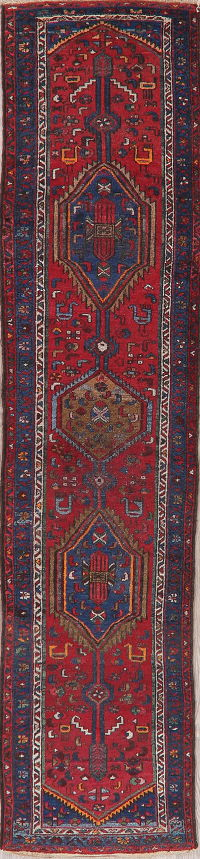 Antique Red Malayer Persian Runner Rug 2x10