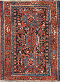 Antique Gharajeh Persian Wool Rug 3x4