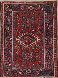 Antique Tribal Gharajeh Persian Wool Rug 3x5