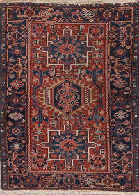Antique Tribal Gharajeh Persian Wool Rug 3x4