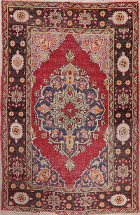 Antique Red Anatolian Turkish Area Rug 5x7