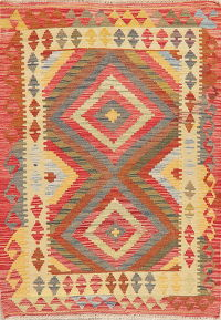 Kilim Turkish Oriental Wool Rug 3x4