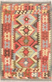 Kilim Turkish Oriental Wool Rug 3x5