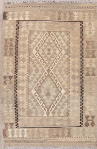 Geometric Turkish Kilim Rug Wool 3x5