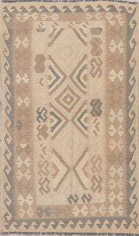 Flat-Weave Kilim Turkish Rug Wool 4x7