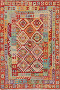 Flat-Weave Turkish Kilim Area Rug 6x8
