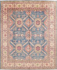 Blue Super Kazak-Chechen Oriental Area Rug 8x10