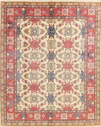 Geometric Super Kazak Pakistan Wool Rug 8x10
