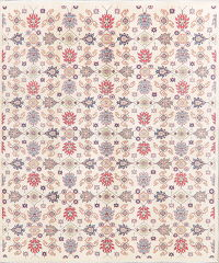 All-Over Ivory Kazak Pakistan Wool Rug 8x10