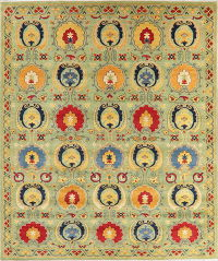 Art & Craft Kazak-Chechen Oriental Area Rug 9x10