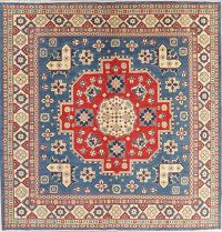 Geometric Kazak Pakistan Wool Rug 10x10 Square