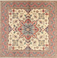 Geometric Kazak Pakistan Wool Square Rug 9x9