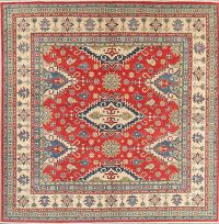 Red Kazak-Chechen Oriental Square Rug 8x8
