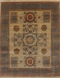 Vegetable Dye Modern Indian Oriental Wool Rug 8x10