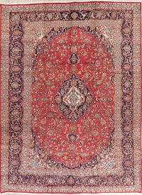Traditional Red Kashan Persian Area Rug 10x13