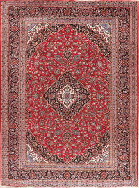 Traditional Red Kashan Persian Wool Area Rug 10x13