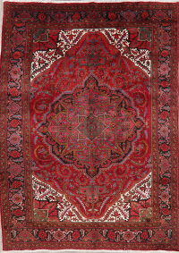 Vintage Red Heriz Persian Area Rug 8x11