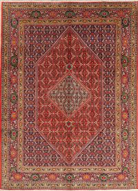 Red Geometric Ardebil Persian Area Rug 7x10
