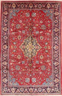 Floral Red Mahal Persian Wool Rug 8x11