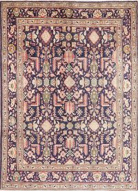 Navy Blue Tabriz Persian Area Rug 7x10
