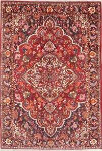 Red Floral Bakhtiari Persian Area Rug 7x10