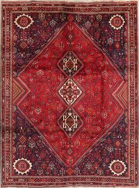 Tribal Geometric Abadeh Persian Wool Rug 7x10