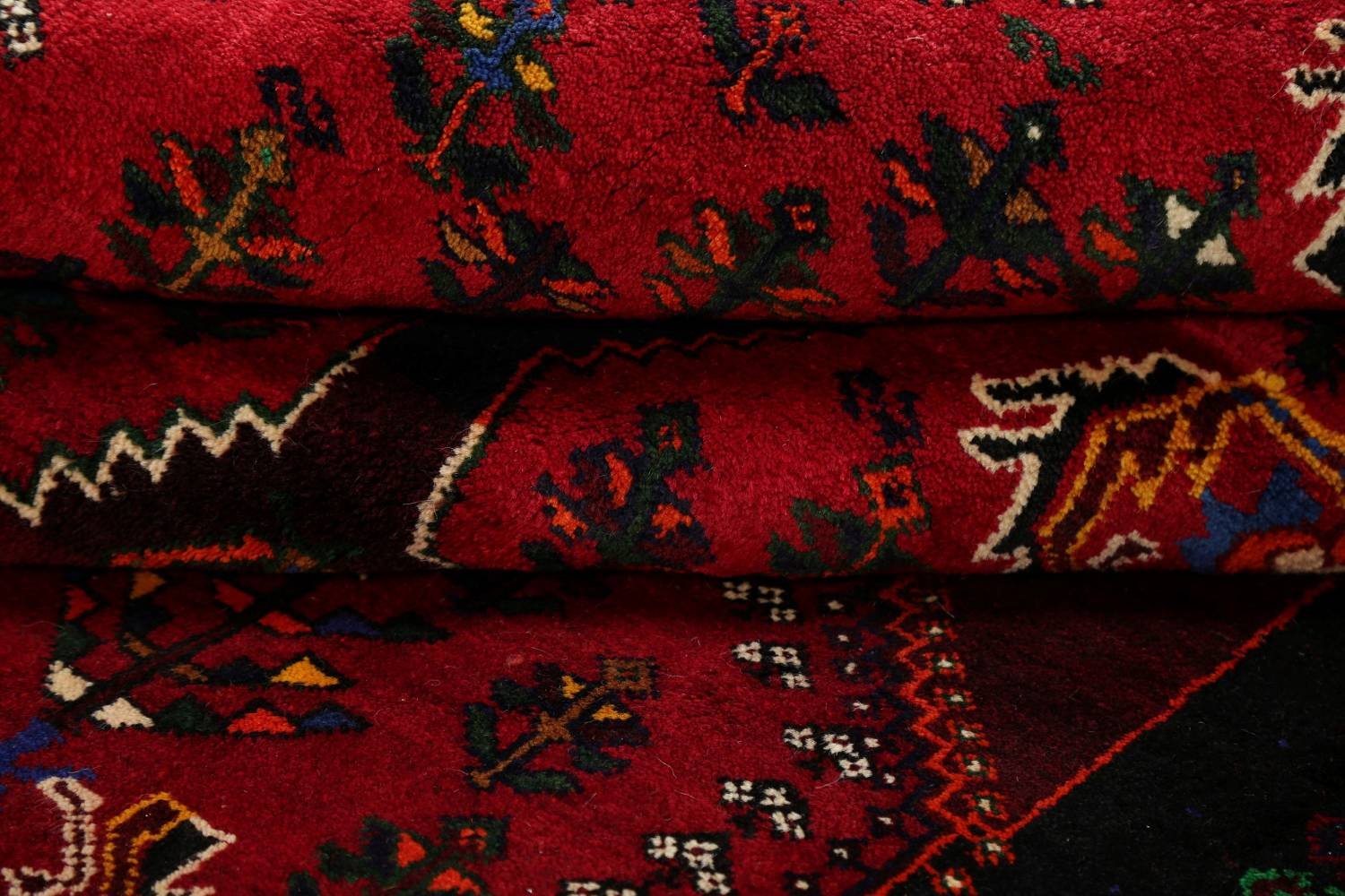 Tribal Abadeh Red Persian Wool Rug 5x8 image 16