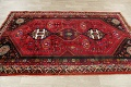 Tribal Abadeh Red Persian Wool Rug 5x8 image 13