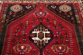 Tribal Abadeh Red Persian Wool Rug 5x8 image 11
