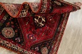 Tribal Abadeh Red Persian Wool Rug 5x8 image 15