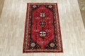 Tribal Abadeh Red Persian Wool Rug 5x8 image 2
