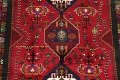 Tribal Abadeh Red Persian Wool Rug 5x8 image 4