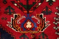 Tribal Abadeh Red Persian Wool Rug 5x8 image 7