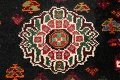 Tribal Abadeh Red Persian Wool Rug 5x8 image 8