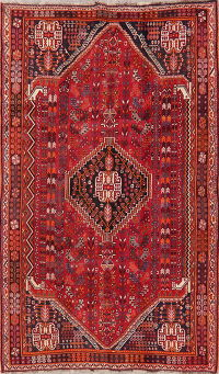 Tribal Geometric Kashkoli Shiraz Persian Wool Rug 5x9