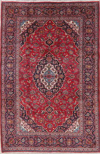 Traditional Red Kashan Persian Area Rug 7x10