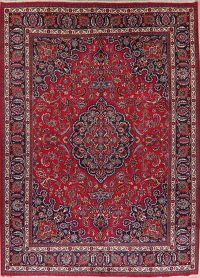 Traditional Floral Mashad Persian Wool Area Rug 10x13