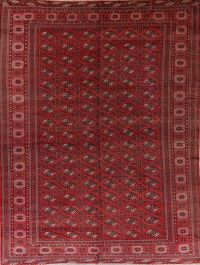 Antique Red Balouch Persian Wool Rug 9x13