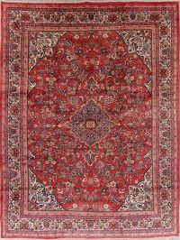 Vintage Floral Mahal Persian Wool Area Rug 10x13