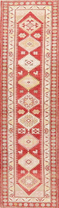 Kazak Oushak Turkish Runner Rug 3x10