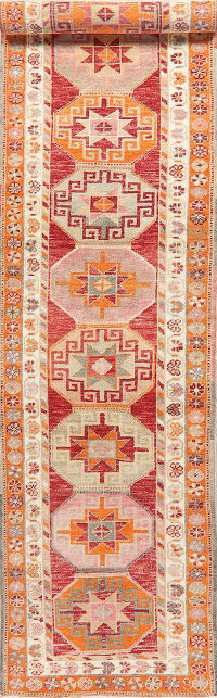 Kazak Oushak Turkish Runner Rug 3x12