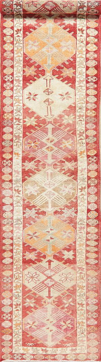 Oushak Turkish Oriental Wool Runner Rug 3x12