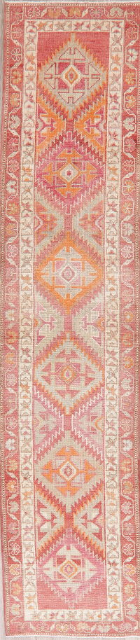 Vintage Oushak Turkish Oriental Runner Rugs 3x12