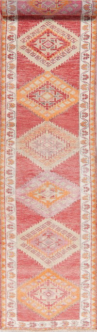 Vintage Oushak Turkish Oriental Runner Rugs 3x13