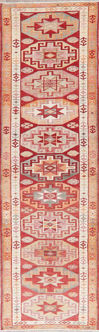 Vintage Oushak Turkish Oriental Runner Rugs 3x11
