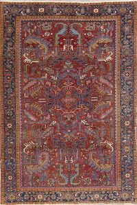 Antique Vegetable Dye Heriz Serapi Persian Rug 7x10