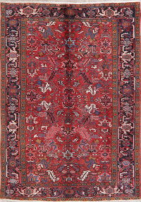 Tribal Geometric Heriz Persian Wool Area Rug 7x10